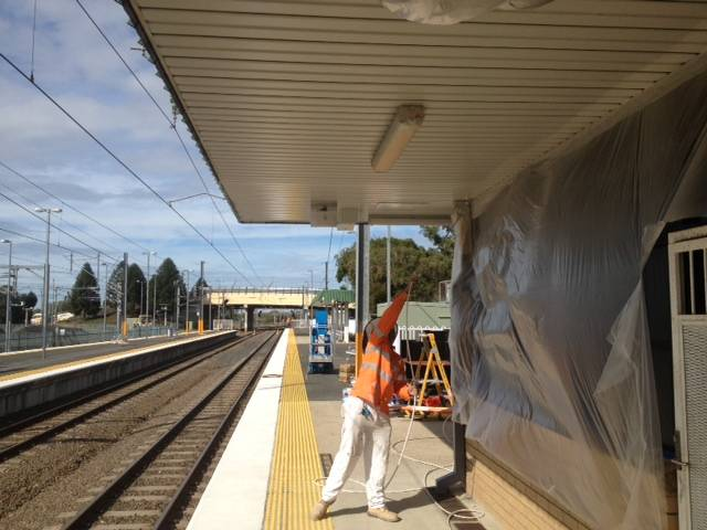 Commercial Repaint – Queensland Rail Caboolture Station